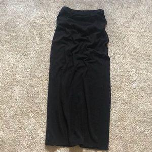 Forever 21 Skirts - Black Slitted Maxi Skirt